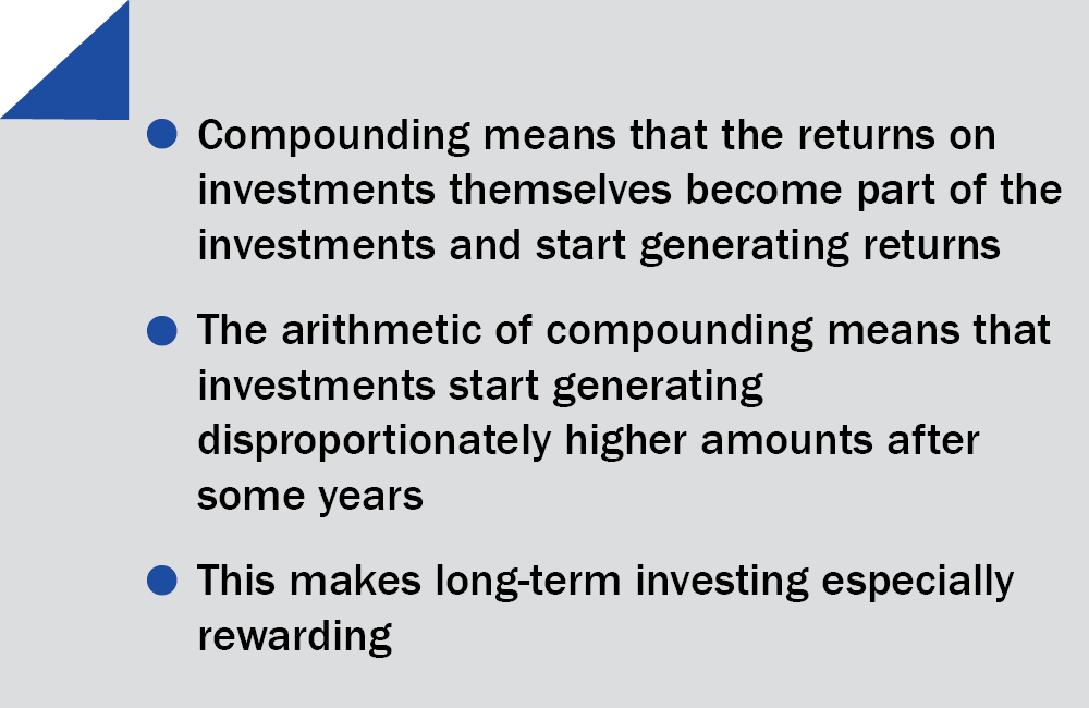 Over time compounding can make you very rich