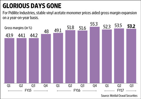 Pidilite Industries: High margin growth a thing of the past