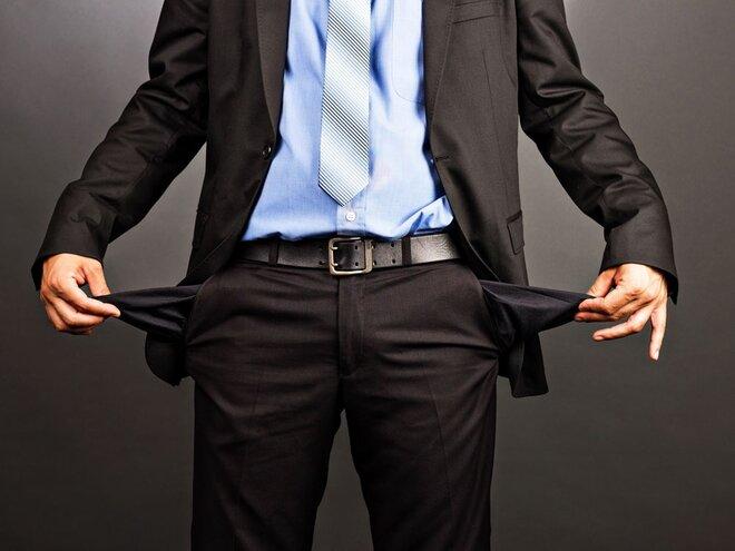 Companies falling short of cash